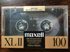 Set Of 10 New Sealed Maxell High Bias  XLII 100 Cassette Tape (Made in Japan)