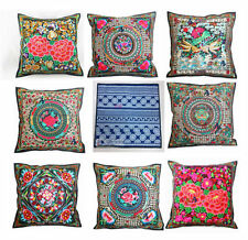 Exotic 2pcs Chinese Handmade Vintage Silk Embroidered Cushion Covers Pillow Bag