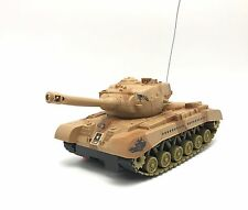 RC Tank USA Army Desert Storm Military Vechile with Lights Toy Gift New Ages 8+