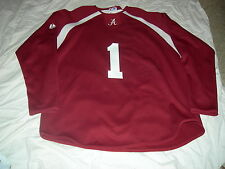 Alabama Crimson Tide #1 HOCKEY Jersey,Adult Large, CUSTOMIZE FREE,MAKES GR8 GIFT