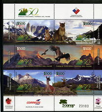 Chile 2008 Sheetlet National Park Paine Towers - Condor Puma Fox Guanaco scarce!