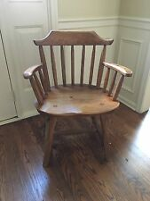 2 Country Hunt Solid Wood End Dining Chairs