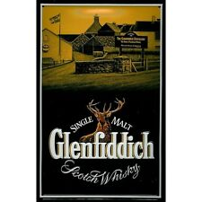 Glenfiddich Scotch Malt Whisky Distillery Pub Bar Medium 3D Metal Embossed Sign