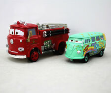 Disney Pixar Cars Diecast Metal Fire Engine RED Truck&Fillmore Set Car