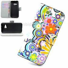 PU Leather Phone Flip Stand Wallet Card Pouch Case Cover Protective For HTC One