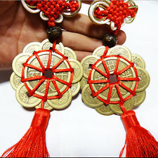 Feng Shui Mystic Knot 10 Chinese Lucky Coins Cures Home Career Health Wealth PR