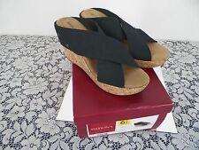 New Merona,Wedge,Slide,Sandal, Shoe,  size 6.5 ,Women Black,dress,casual