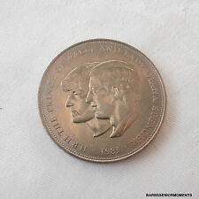 PRINCE CHARLES~LADY DIANA SPENCER ROYAL WEDDING COMMEMORATIVE COIN~CROWN~ref16