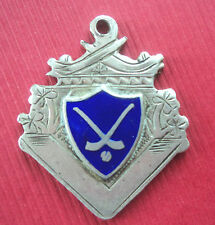 Irish Silver & Enamel Medal or Fob - Hurling /Shinty - Dublin 1947 not engraved