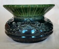 Mc Coy Early Spittoon Cuspidor Green Pottery Victorian Ladies