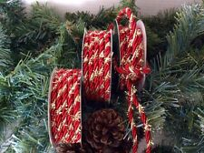 3 ROLLS LUXURY RED CHRISTMAS CORD FOR WRAPPING AND CRAFTS