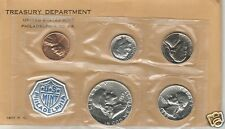 1957 US Mint 5 Coin Silver Proof Set Flat Pack * COA & Envelope * Nice Mirrors *