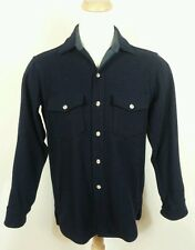 Vintage 60's 70's Wool Woolrich CPO shirt Jacket Navy M USA Hunting Hiking