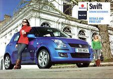 SUZUKI SWIFT 2010 ACCESSORI Regno Unito delle vendite sul mercato opuscolo 3-Dr 5-Dr