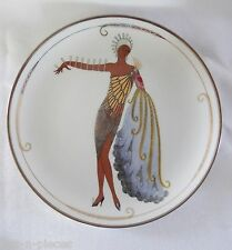 Franklin Mint  Erte Wall Plate  DIVA II Art Deco Lady with Peacock