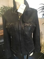 G Star Leather Jacket Size L