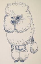 POODLE DOG ART PRINT #31 Stephen Kline adds your dogs name free. MINIATURE TOY