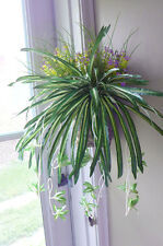 Chlorophytum Grass Vine Artificial Flower Plants Bush Spider Hanging Set of 3