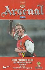 ARSENAL v RACING CLUB DE LENS. UEFA Cup Semi-Final 1999/2000