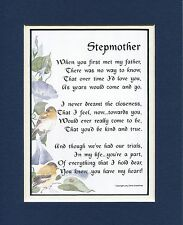 #12 Gift Present Thank you for Stepmother Birthday mothers day. Poem