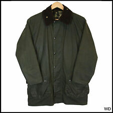 VINTAGE BARBOUR BORDER COUNTRY GREEN WAX JACKET COAT C 36 91cm SMALL