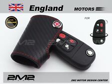 Leather Key fob Holder Case Chain Cover FIT For Jaguar XJ NEW F-TYPE XJR XK 441B