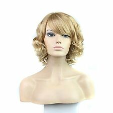 Short Curly Blonde Wig Sythetic Full Hair Wig Like Real Human Hair