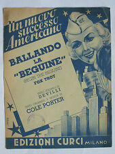 "SPARTITO BALLANDO LA ""BEGUINE"" (BEGIN THE BEGUINE) COLE PORTER CURCI MILANO 1950"