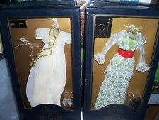 Lot of 2 FRANKLIN MINT TITANIC Rose Doll Ensembles Breakfast & Tea Dresses NRFB