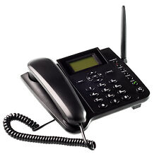 Wireless GSM Desk Phone QuadBand SIM Card Mobile Home Office Desktop Telephone