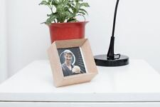 """Kikkerland Perspective Photo Frame Small Beechwood for 3"""" x 3"""" Photos Home Gift"""