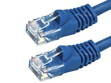 25FT CAT5e Cable Ethernet Lan Network CAT5 RJ45 Patch Cord Internet Blue NEW