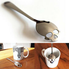 Stainless Utensil Sugar Skull Spoon Collectible Silverware Gift For Tea Coffee