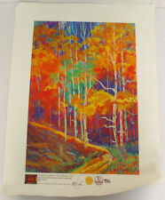 JOYCE COMBS FALL CANVAS ABSTRACT PAINTING IGI PAINT ART 9468 GICLEE MASTER COOL