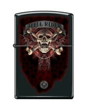 Zippo 218 Anne Stokes Collection Hell Rider Skull & Crossbones Lighter RARE