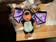 "WARNER BROTHERS HANNA BARBERA SCOOBY DOO Bat Halloween stuff 9"" PLUSH BEAN BAG"