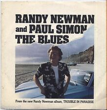"RANDY NEWMAN PAUL SIMON The blues - VINYL 7"" 45 ITALY 1982 NEAR MINT COVER VG+"