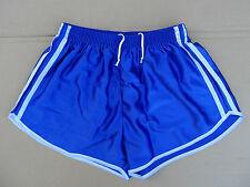 Frz. Vintage Shorts Gr.XL NEU kurze Sporthose Sport Nylon Glanz retro blau 80er