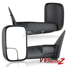 [PAIR] Side View Manual Towing Mirrors Trailer Folding 02-08 Dodge RAM V8 Pickup