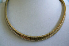 "NAPIER GOLD TONE LINK CHAIN COLLAR NECKLACE 15.75""L $0 SHIPPING"
