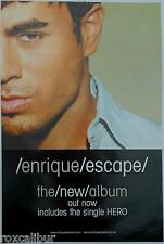 ENRIQUE IGLESIAS ESCAPE RARE ORIGINAL OFFICIAL UK RECORD COMPANY POSTER
