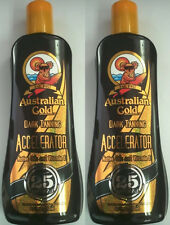 LOT OF 2 - Australian Gold Dark Accelerator Lotion Indoor / Outdoor Sun Tan