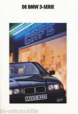 BMW  3er Prospekt 1/92 (NL) 316i 318i 320i 325i brochure prospectus broschyr