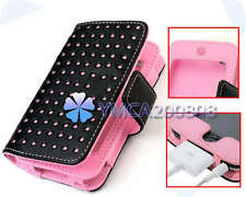 New Leather Wallet Case Skin Cover for iPod Touch 4 4th 8GB 16GB 32GB ba0t
