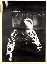 22/10/83PGN32 BRUCE FOXTON : THIS IS THE WAY SINGLE ADVERT 15X11""
