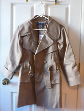French Connection Trench Coat Women's Size 2 NWT Brown