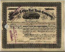 Mobile & Ohio Railroad Company Stock Certificate