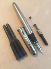 JINHAO X750 FLIGHTER CT FOUNTAIN PEN-M NIB-CONVERTER-5 X CARTRIDGES-UK-STOCK