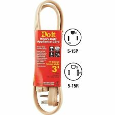 APPLIANCE AND AIR CONDITIONER CORD - HEAVY DUTY 3' 14/3 BEIGE - FREE SHIPPING
