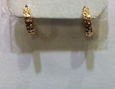 18k Solid Yellow Gold Hoop Earrings 1.95 GM